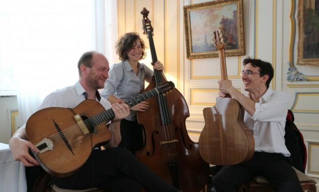 trio jazz manouche pour animer votre événement mariage concert.